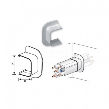 PASSAGGIO A MURO PVC RAL9010 125x75mm NIC9803-111-08