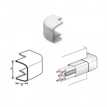 ANGOLO ESTERNO 90° PVC RAL9010 125x75mm NIC9803-113-08