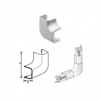 CURVA PIANA 90° PVC RAL9010 35x30mm 9810-115-08 - Canaline per tubi