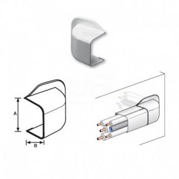 CURVA A MURO PVC RAL9010 35x30mm 9810-116-08