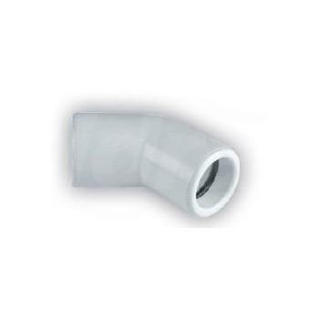 CURVA 45° FF PVC ø32mm con o-ring NIC9905-101-08