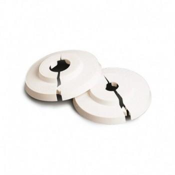 Rosone apribile tipo GTL in materiale plastico bianco con chiusura a coda di rondine per tubi rame ø12 434400PB12