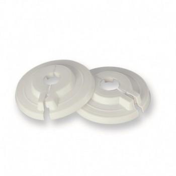 Rosone apribile tipo con chiusura a pinza, in materiale plastico bianco per tubi rame ø14 434500PB14