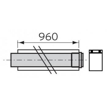 PROLUNGA PP ø60/100mm L.1m C/FASCETTA VLT303903