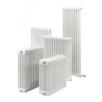 Radiatore tubolare multicolonna con tappi 2/600 11 elementi 2 colonne 0Q0020600110000 - Rad. tubolari in acc. 2 colonne