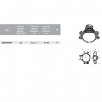 PRESA A STAFFA FILETTATA - 2x1 - 60,3x33,7 mm B003J060034 - Raccorderia antincendio
