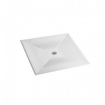 Ceramica Dolomite VELA Piatto doccia 90x90x6 cm, foro di scarico Ø90 mm. Installazione a filo pavimento, ceramica, bianco IDSJ254100