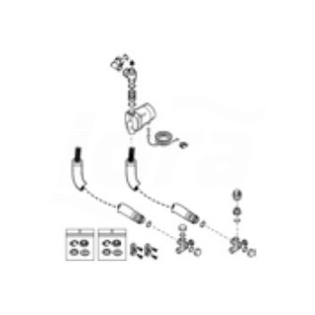 Kit di connessione a bollitore per POWER HT OIL BAX7639559