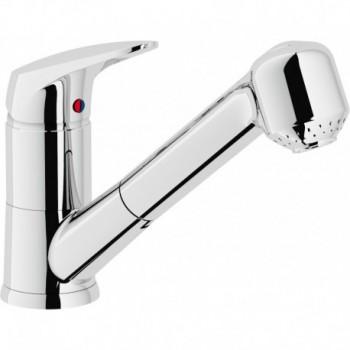 HERA 2005 Miscelatore rubinetto monocomando lavello + Doccetta estraibile 2G CR H547117CR