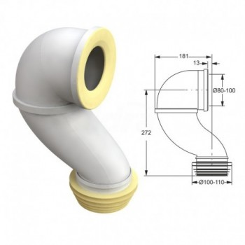 Curva rigida per vasi WC ø 80-100 8520PP11C0