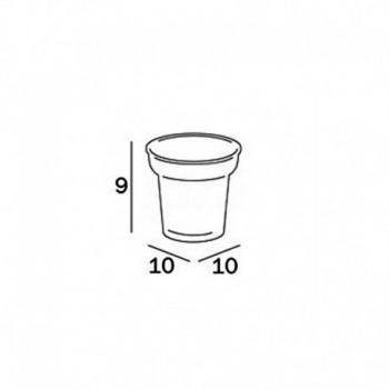 Inda Bicchiere in vetro satinato R32100 INDR32100