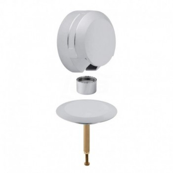 Accessori di completamento per sifone vasca con erogazione cromato lucido GEB150.425.21.1