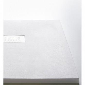 Piatto doccia RETTANGOLARE composito di minerali naturali e resina (3 cm) 120x80 bianco Matt GFMPIADM301280BM