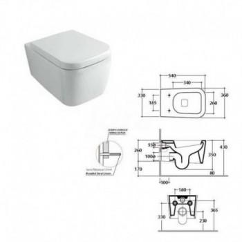 Vaso sospeso serie STONE in ceramica bianco GLOSSSN2.BI