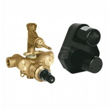 Miscelatore rubinetto termostatico per doccia, corpo incasso senza parte esterna, installazione a parete 34211000 - Gruppi pe...