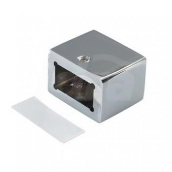 Boccola cromata quadrata a muro x 082 BOXQ082CR0
