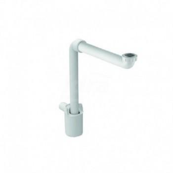 Sifone con tubo ad immersione ø 40 Geberit per lavabo, modello salvaspazio, scarico orizzontale, altezza della chiusura idraulica 50 mm POG151.117.11.1