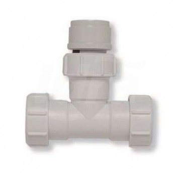 """Tee Abs Bianco Con Ghiere d.1.1/2 Per Canotto d.40 439400PB1""""1/2"""
