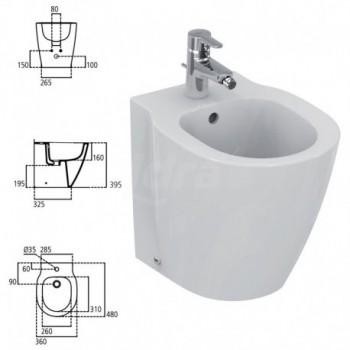 CONNECT S. bidet BTW P.48cm bianco europa IDSE118901