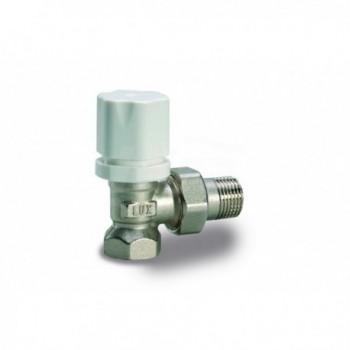 RS 2502 Valvola radiatore a squadra termostatizzabile TERM.+VT 2600T.F. 1/2 nichelato EN215 12622100 - Per corpi scaldanti