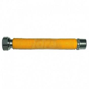 """Flessibile estensibile per allacciamento caldaia gas rivestito in poliolefine giallo  ø1"""" MF 75/130mm TCG00000016139"""