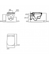 ACTIVE wc sospeso con sedile slim bianco europa T332701 - Vasi WC