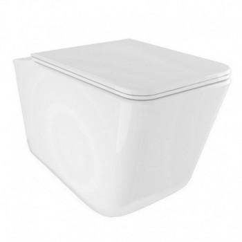 Sanitari bagno sospesi vaso wc con sedile soft-close wave ponsi PONBCWAVLVASO0001