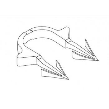 Chiodo per fissaggio tubo Rautherm S 12623731002 - Clips di fissaggio