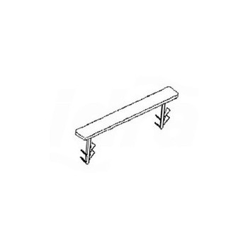 Fascetta di fissaggio. Per il fissaggio del tubo posato a 45° rispetto alla direzione principale di posa 12195671001 - Clips ...