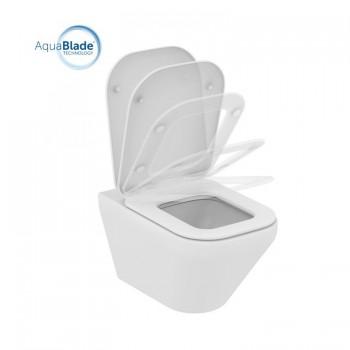 TONIC II wc sospeso + Aquablade + sedile slim a chiusura rallentata bianco europa IDSK316701