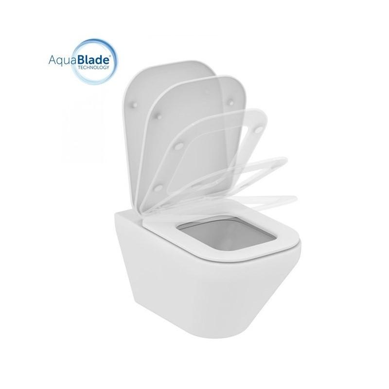 TONIC II wc sospeso + Aquablade + sedile slim a chiusura rallentata bianco europa K316701 - Vasi WC