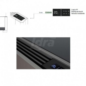 Pannello di controllo elettronico PI con comandi a bordo macchina (per versioni 2 tubi) IVAEB0644II