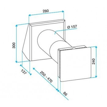 NANO AIR 50 è il sistema di ventilazione meccanica controllata a doppio flusso con recupero di calore 11023290