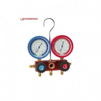 Manometro Analogico R22 R407C a 4 vie Rothenberger Manometrico 170502 ROT170502
