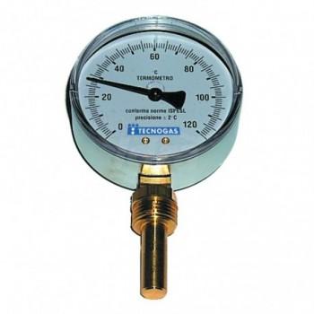 Termometro bimetallico ad immersione, attacco Radiale ø80 GAMBO 50 00000R02940 - Temperatura