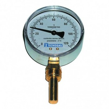 Termometro bimetallico ad immersione, attacco Radiale ø80 GAMBO 100 00000R02942 - Temperatura