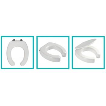 Sedile wc coestruso per diversamente abili mod. universale con coperchio bianco europa. ERCBSCOMSVR79
