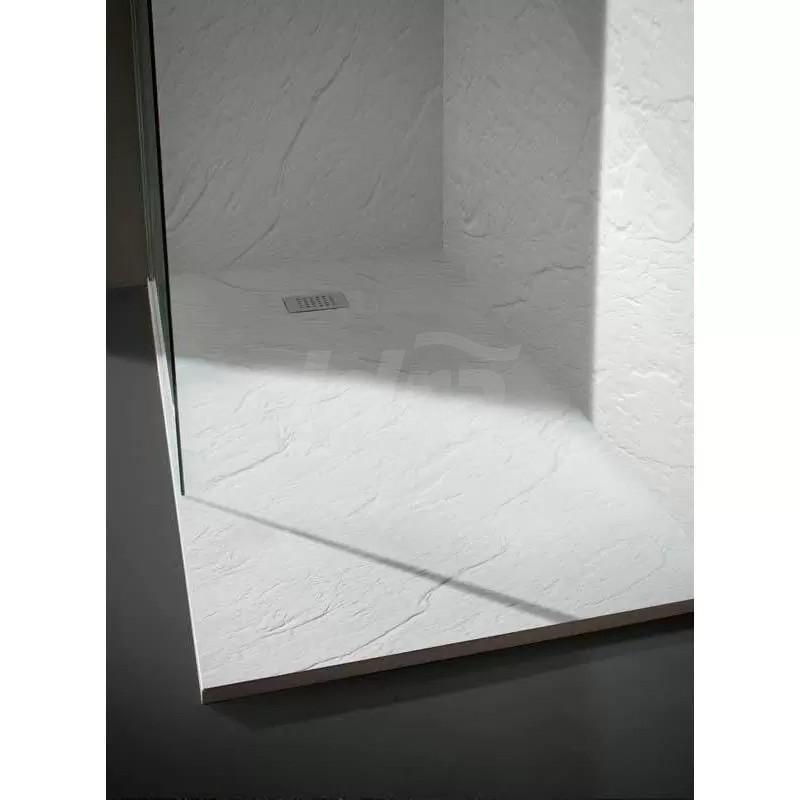 Piatto Doccia ultra flat effetto pietra Ardesia Matt bianco120x80 cm