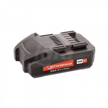 Batteria Rothenberger 18 V / 2,0 Ah Li-Ion per Romax 3000/4000, Roamx Compact TT Mini ROT1000001652