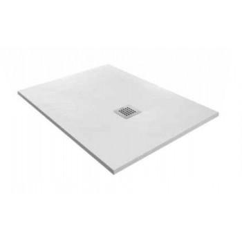 Forma Standard Piatto doccia in resina cm. 80 x 100 h 3 rettangolare, colore bianco HAF5FRB2N0_00001