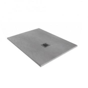 Forma Standard Piatto doccia in resina cm. 80 x 100 h 3 rettangolare, colore cemento 5FRB2N0_00003