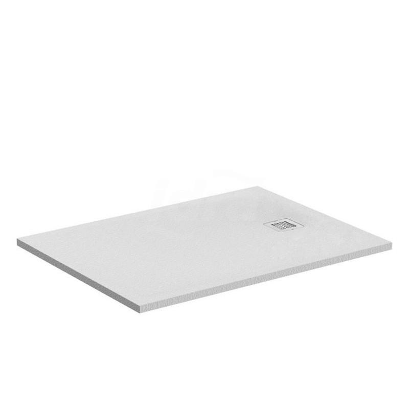 ULTRA FLAT S piatto doccia rettangolare ultrasottile Ideal Solid 100 x 80 cm, finitura opaca effetto pietra, bianco IDSK8219FR
