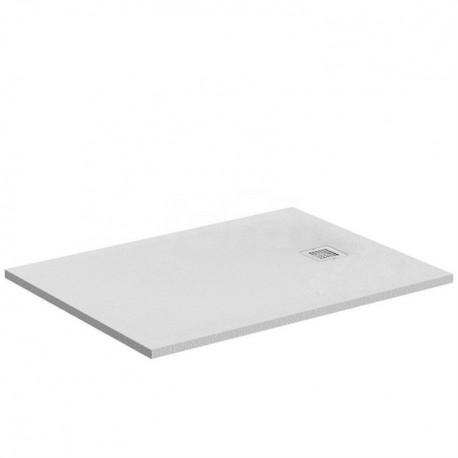 ULTRA FLAT S piatto doccia rettangolare ultrasottile Ideal Solid 100 x 90 cm, finitura opaca effetto pietra, bianco IDSK8220FR