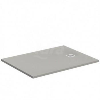 ULTRA FLAT S piatto doccia rettangolare ultrasottile Ideal Solid 120 x 80 cm, finitura opaca effetto pietra, grigio cemento IDSK8227FS