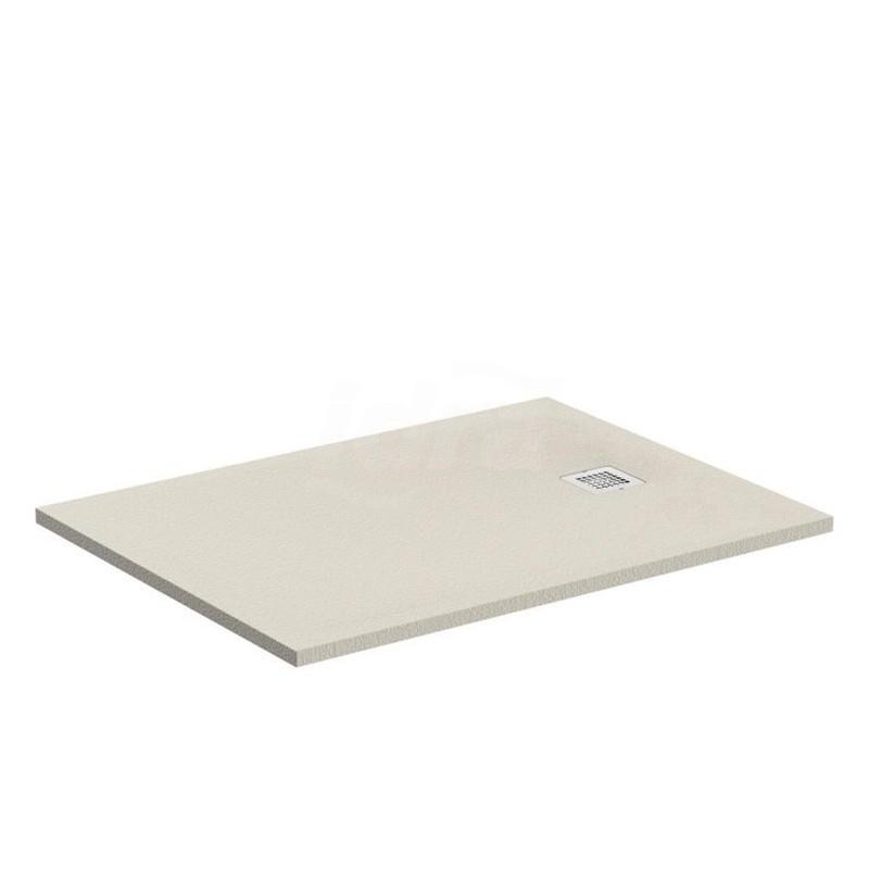 ULTRA FLAT S piatto doccia rettangolare ultrasottile Ideal Solid 120 x 90 cm, finitura opaca effetto pietra, sabbia IDSK8230FT