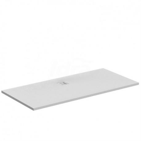 ULTRA FLAT S piatto doccia rettangolare ultrasottile Ideal Solid 170 x 80 cm, finitura opaca effetto pietra, bianco IDSK8284FR