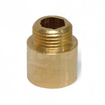529/OT - Prolunga in barra ottone tipo pesante Misura: 1/2 x 10 06470204