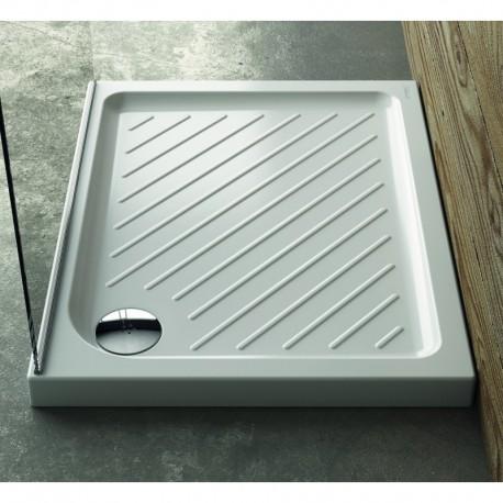 Ceramica Dolomite GEMMA 2 piatto doccia rettangolare 100 x 70 x 7 cm in ceramica, bianco IDSJ002301