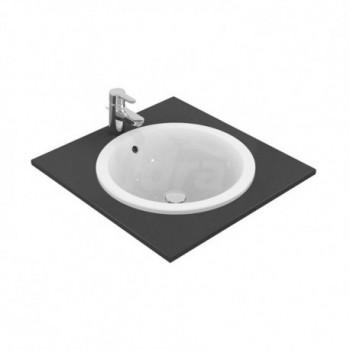 Connect Lavabo 380x380 mm, da incasso soprapiano su mobile controppopieno, senza foro per la rubinetteria, bianco IDSE505101
