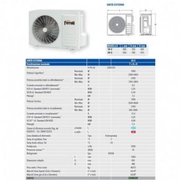 Condizionatore climatizzatore ASTER MULTISPLIT DC INVERTER IN POMPA DI CALORE (SOLO UNITA' ESTERNA) FRL2C0A634F